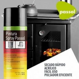 Spray Negro Alta T° S/R 400Ml
